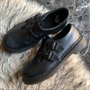 Dr Martens Mary Janes Size 5 Black Leather 8065 J